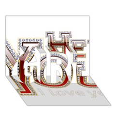 Hey You I Love You Girl 3d Greeting Card (7x5) by Onesevenart