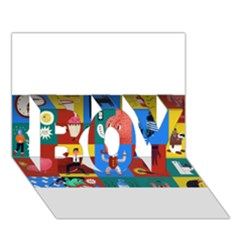 The Oxford Dictionary Illustrated Boy 3d Greeting Card (7x5) by Onesevenart