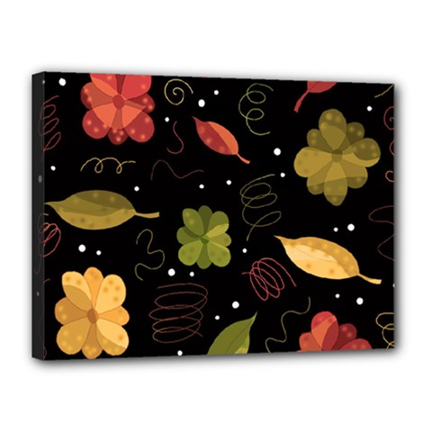 Autumn Flowers  Canvas 16  X 12  by Valentinaart