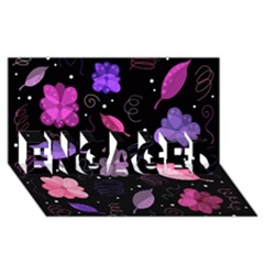 Purple And Pink Flowers  Engaged 3d Greeting Card (8x4) by Valentinaart