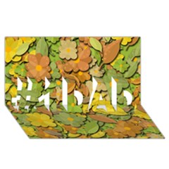 Autumn Flowers #1 Dad 3d Greeting Card (8x4) by Valentinaart