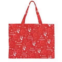 Santa Christmas Collage Large Tote Bag by Onesevenart