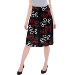 Elegance   Red  Midi Beach Skirt by Valentinaart