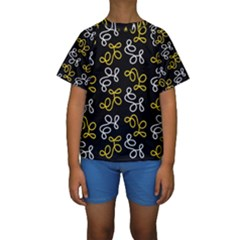 Elegance   Yellow Kids  Short Sleeve Swimwear by Valentinaart