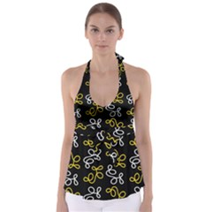 Elegance   Yellow Babydoll Tankini Top