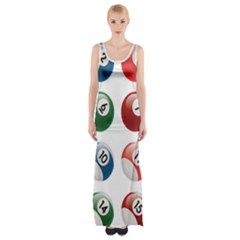 Billiards Maxi Thigh Split Dress by AnjaniArt