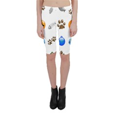 Cat Mouse Dog Cropped Leggings  by AnjaniArt