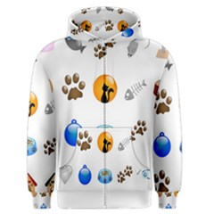Cat Mouse Dog Men s Zipper Hoodie by AnjaniArt