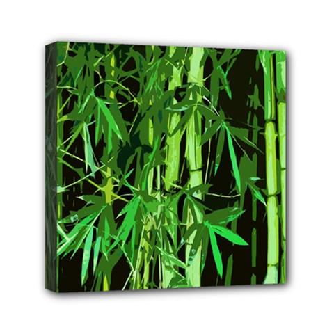 Bamboo Pattern Tree Mini Canvas 6  X 6  by AnjaniArt
