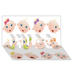Cute Baby Picture Hugs 3d Greeting Card (8x4) by AnjaniArt