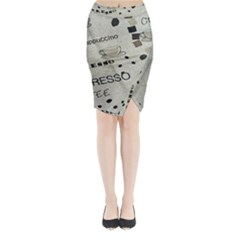 Coffe Cup Midi Wrap Pencil Skirt by AnjaniArt