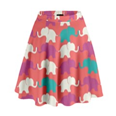 Elephant High Waist Skirt by AnjaniArt