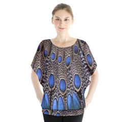 Feathers Peacock Light Blouse by AnjaniArt