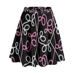Elegance   Pink High Waist Skirt by Valentinaart