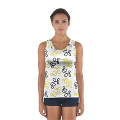 Yellow Elegance Women s Sport Tank Top  by Valentinaart