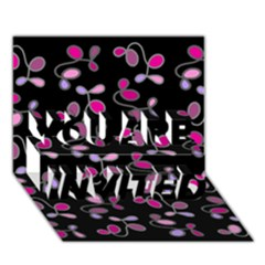 Magenta garden YOU ARE INVITED 3D Greeting Card (7x5) by Valentinaart