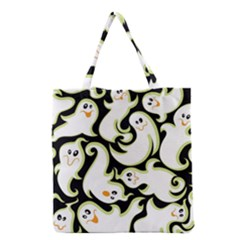 Ghosts Small Phantom Stock Grocery Tote Bag by AnjaniArt