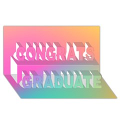 Pink Blue Congrats Graduate 3d Greeting Card (8x4) by AnjaniArt