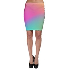 Pink Blue Bodycon Skirt by AnjaniArt