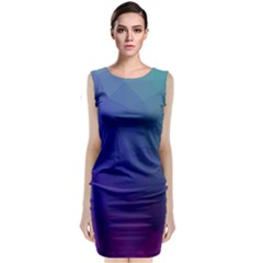Polyart Dark Blue Purple Pattern Classic Sleeveless Midi Dress by AnjaniArt