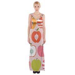Pink Delicious Organic Canvas Maxi Thigh Split Dress by AnjaniArt