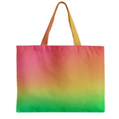 The Walls Pink Green Yellow Zipper Mini Tote Bag by AnjaniArt