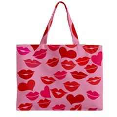 Valentine s Day Kisses Medium Tote Bag by BubbSnugg