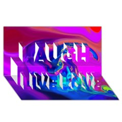 The Perfect Wave Pink Blue Red Cyan Laugh Live Love 3d Greeting Card (8x4) by EDDArt