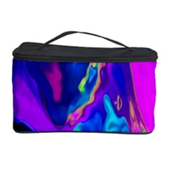The Perfect Wave Pink Blue Red Cyan Cosmetic Storage Case by EDDArt