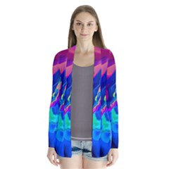 The Perfect Wave Pink Blue Red Cyan Cardigans by EDDArt