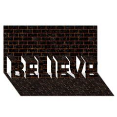 BRK1 BK-BR MARBLE BELIEVE 3D Greeting Card (8x4) by trendistuff
