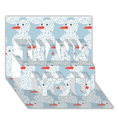 Christmas Wrapping Papers Thank You 3d Greeting Card (7x5) by Onesevenart
