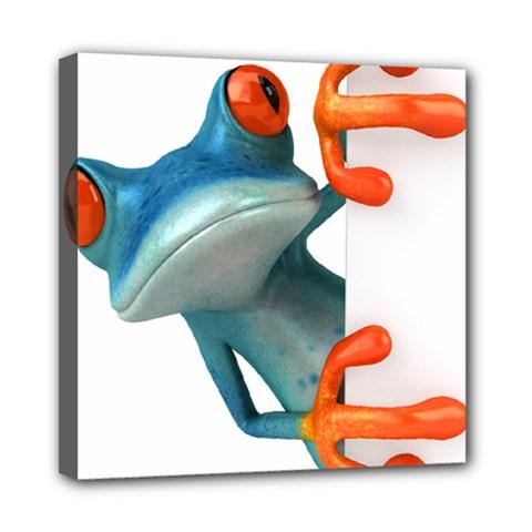 Tree Frog Illustration Mini Canvas 8  X 8