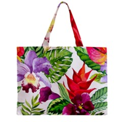 Vector Pattern Tropical Zipper Mini Tote Bag by Onesevenart