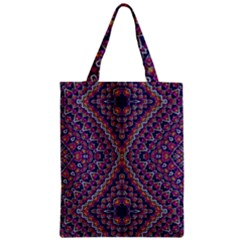 Purple Dotted Mosaic Zipper Classic Tote Bag by KirstenStar
