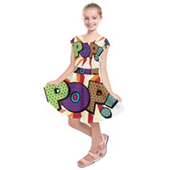 Comic Book Pop!  Kids  Short Sleeve Dress