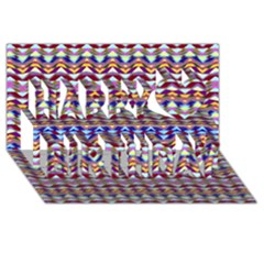 Ethnic Colorful Pattern Happy Birthday 3d Greeting Card (8x4) by dflcprints