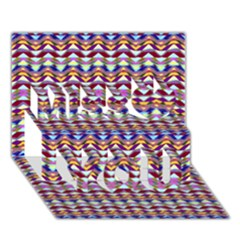 Ethnic Colorful Pattern Miss You 3d Greeting Card (7x5) by dflcprints