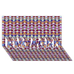 Ethnic Colorful Pattern Engaged 3d Greeting Card (8x4) by dflcprints