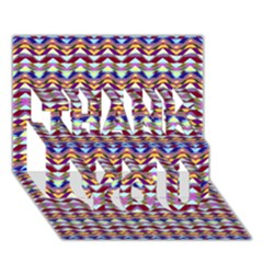 Ethnic Colorful Pattern Thank You 3d Greeting Card (7x5) by dflcprints