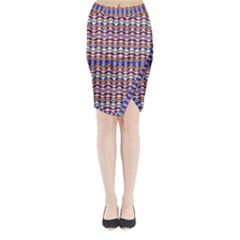Ethnic Colorful Pattern Midi Wrap Pencil Skirt by dflcprintsclothing