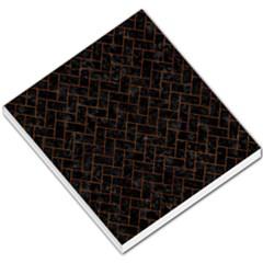 Brick2 Black Marble & Brown Marble (r) Small Memo Pads by trendistuff