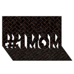 Brick2 Black Marble & Brown Marble (r) #1 Mom 3d Greeting Cards (8x4) by trendistuff