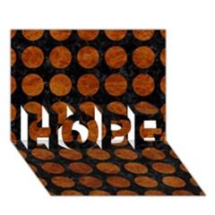 Circles1 Black Marble & Brown Marble Hope 3d Greeting Card (7x5) by trendistuff