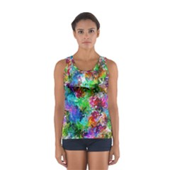 Colorful strokes                                                                                                                Women s Sport Tank Top by LalyLauraFLM