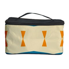 Mirrored Shapes In Retro Colors                                                                                                                 Cosmetic Storage Case by LalyLauraFLM