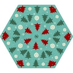 Christmas Tree With Snow Seamless Pattern Vector Mini Folding Umbrellas by Onesevenart
