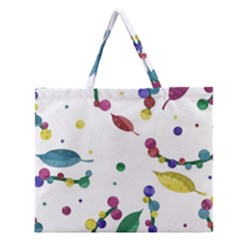 Abstract Floral Design Zipper Large Tote Bag by Valentinaart