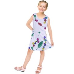 Abstract floral design Kids  Tunic Dress by Valentinaart