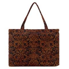 Dms2 Bk Br Marble Medium Zipper Tote Bag by trendistuff
